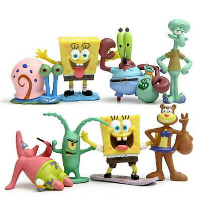 8pcs SpongeBob SquarePants TV Action Figures Cake Toppers Doll Set Kids Toy Gift • 7.99£