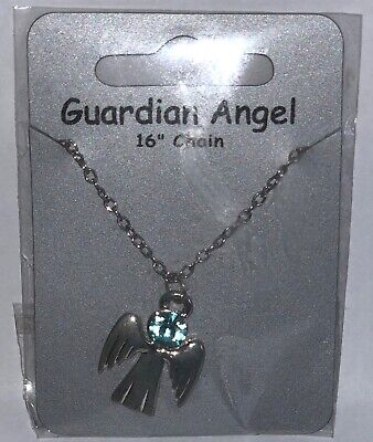 December Birthstone Guardian Angel Necklace Jewellery Gemstone  • 3.59£