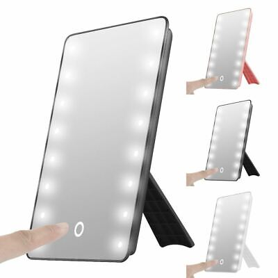 16 LED Touch Screen Makeup Mirror Tabletop Cosmetic Vanity Light Up Mirror UK • 8.49£