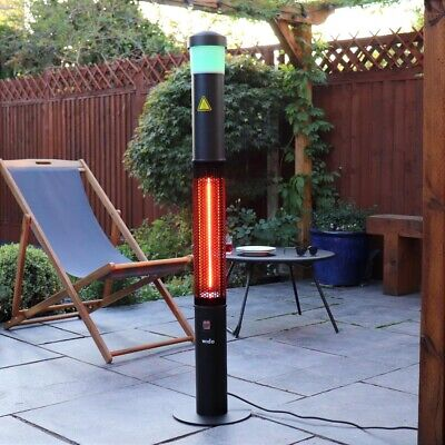 ELECTRIC 3 IN 1 PATIO HEATER BLUETOOTH SPEAKER LED LIGHTS OUTDOOR GARDEN Wido • 129.99£