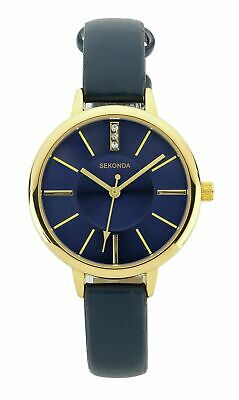 Sekonda Editions Ladies Blue Leather Strap Blue Dial Analogue Watch • 16.25£