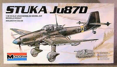 $14.95 • Buy Monogram 1/48 German Ju 87D Stuka  *Vintage* Plastic Model Kit