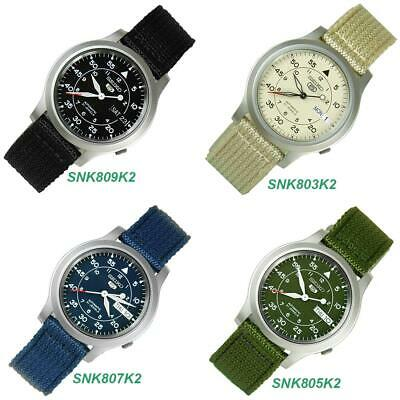 $ CDN132.44 • Buy Seiko 5 Military SNK809K2 SNK807K2  SNK805K2 SNK803K2 Automatic Nylon Mens Watch