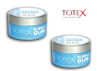 TOTEX Hair Styling Wax Bubblegum Scent Strong Hold Wet Look UK SELLER **2 TUBS** • 8.65£