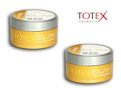 TOTEX Hair Styling Wax Clay Ultra Strong Hold Mess Up Look150ml **2 PCS OFFER** • 8.50£