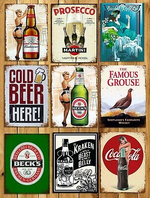 Metal Signs Plaques Vintage Retro Style Beer Bar Becks Mancave Home Wall Decor • 4.99£