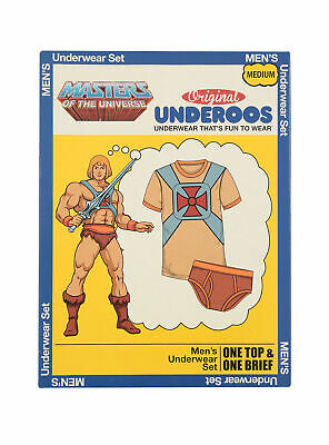 $8.99 • Buy Underoos Mens Masters Of The Universe He-Man Underwear T Shirt & Brief New S-2XL