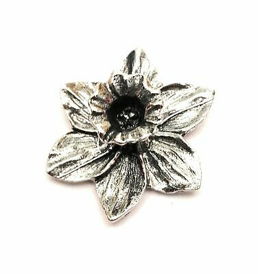 £4.49 • Buy Daffodil Hand Crafted Pewter Lapel Pin Badge In Velvet Gift Pouch