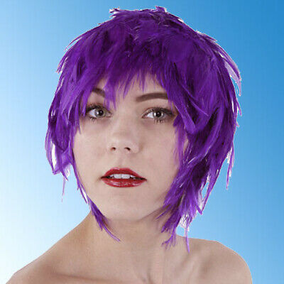 $17.95 • Buy Wig Rooster Hackle Feathers Halloween Costume Punk Retro New REGAL PURPLE