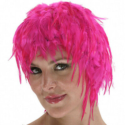 $17.95 • Buy Wig Rooster Hackle Feathers Halloween Costume Punk Retro New HOT PINK
