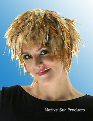 $17.95 • Buy Wig Rooster Hackle Feathers Halloween Costume Punk Retro New CHINCHILLA