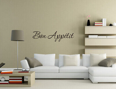 Bon Appetit Enjoy Your Meal Wall Stickers Wall Quotes Wall Art UK 32v • 4.30£