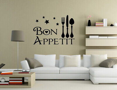 Bon Appetit Enjoy Your Meal Dinning Room Wall Quotes Wall Stickers UK 32qw • 4.30£