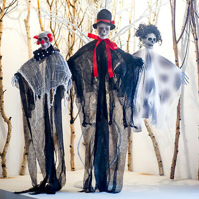 $9.99 • Buy Hanging Skeleton Halloween Pirate Reaper Ghost Horror Decoration Props House