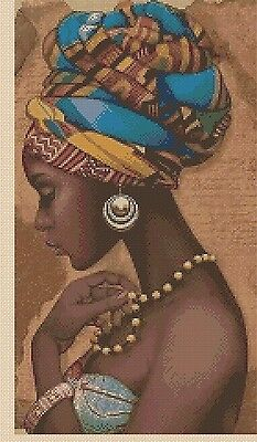 Cross Stitch Chart  African Tribal Lady Of Elegance 426 6  Flowerpower37 • 3.75£