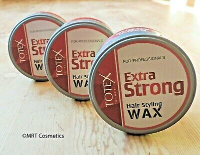 TOTEX Professional Hair Styling Wax Extra Strong 150ml Barber Shop **3PCS OFFER* • 10£