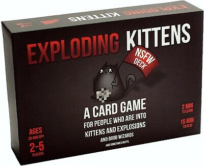 AU30.11 • Buy Exploding Kittens NSFW Card Game 100% Complete Adults Only Explicit NEW