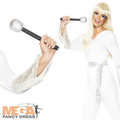 Disco Dancing Queen + Microphone Ladies Fancy Dress 70s Celebrity Adults Costume • 20.99£