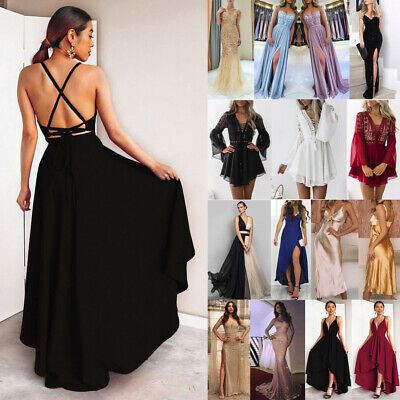 AU31.99 • Buy AU Women Formal Dress Wedding Evening Ball Gown Party Cocktail Prom Bridesmaid