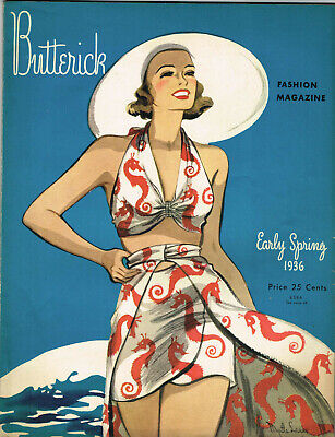 $12.71 • Buy 1930s Butterick Early Spring 1936 Fashion And Pattern Book Catalog E-Book On CD