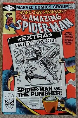 AMAZING SPIDER-MAN Vol 1, No 15, SIGNED BY FRANK MILLER, 1981 Great Condition • 105£