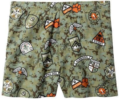 $25.99 • Buy Big Dogs Flannel Boxers Large Alpha Dog Airborne Green Cotton Button Fly Elastic