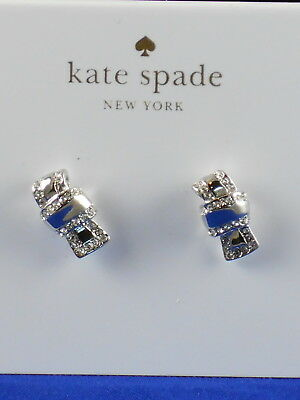 $ CDN32.16 • Buy Kate Spade Silver ALL TIED UP Clear Pave' Knot Bow Stud Earrings WBRUE550 $58