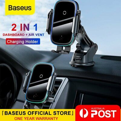 AU39.99 • Buy Baseus Wireless Car Charger Holder Mount Infrared Automatic For IPhone Samsung