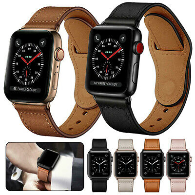 $ CDN7.87 • Buy For Apple Watch Series 5 4 3 2 1 Genuine Leather Band Strap IWatch 38/42/40/44mm