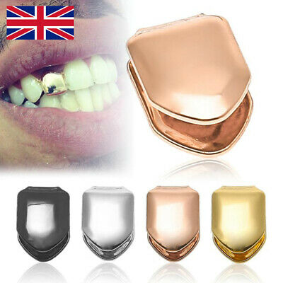 Comfort Custom Gold Plated Small Single Tooth Cap Grillz Hip Hop Teeth Grill D • 0.99£