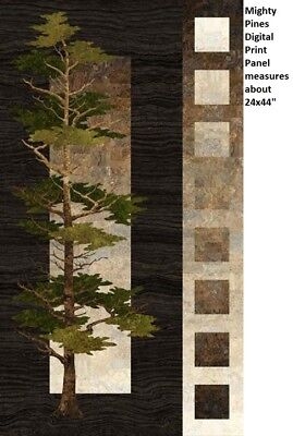 Mighty Pines Digital Print Panel Quilt Fabric Cotton By Northcott 24x44  • 12$