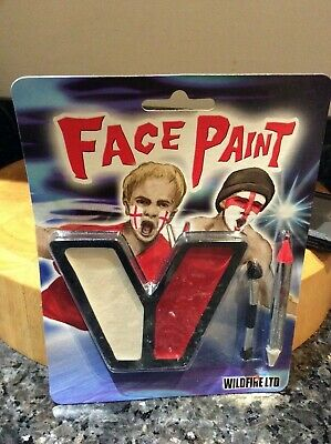 £1 • Buy Red White England Flag Face Paint Set With Applicator &pencil Hallowe'en Rugby