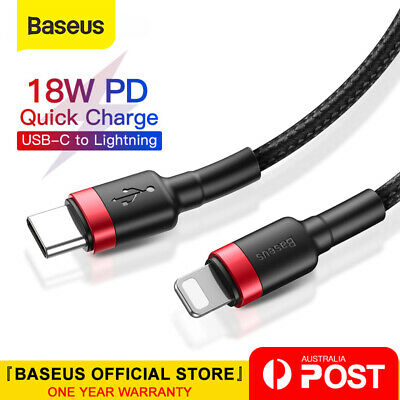 AU10.99 • Buy Baseus 18W PD Cable USB C To Lightning Charging Cable For IPhone 11 Pro XS Max