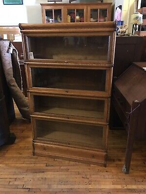 $1095 • Buy Antique Oak 4 High Stack Barrister Bookcase Arts & Crafts Macey/Globe Wernicke