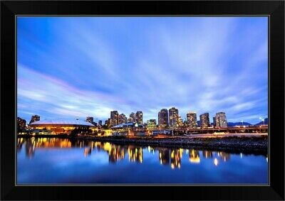 Downtown And British Columbia Place Black Framed Wall Art Print, Skyline Home • 77.22£