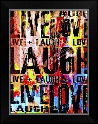 Live Love Laugh Black Framed Wall Art Print, Inspirational Home Decor • 39.01£