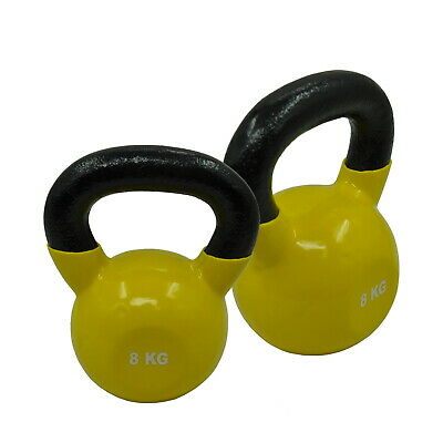AU58.82 • Buy 8KG X 1 Or 8KG X 2 VINYL IRON RUSSIAN STYLE  KETTLEBELL - Home Strength Training