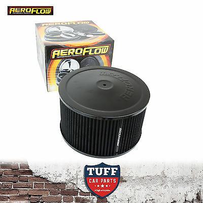 "AU133.95 • Buy Aeroflow Black Air Cleaner Assembly 9"" X 5"" With Washable Filter Element New"