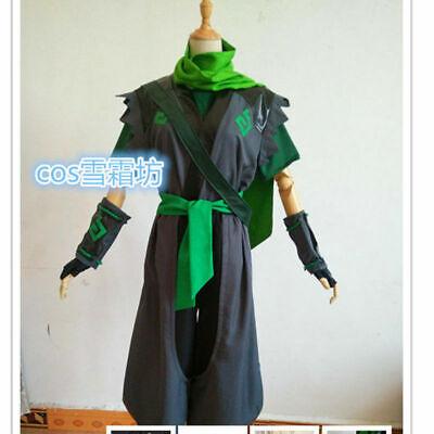 $ CDN92.87 • Buy Sparrow Young Genji Green Cosplay Costume Full Sets Custom Made&