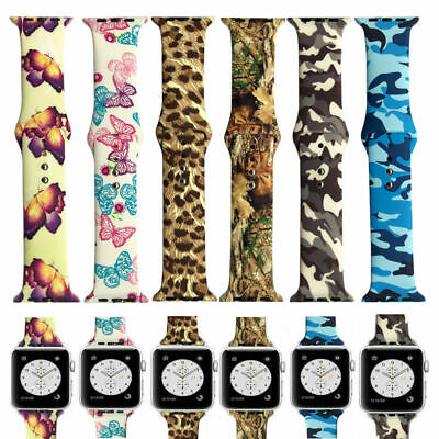 AU12.99 • Buy Camouflage Silicone Apple Watch Band Butterfly Strap For IWatch Series 5 4 3 2 6