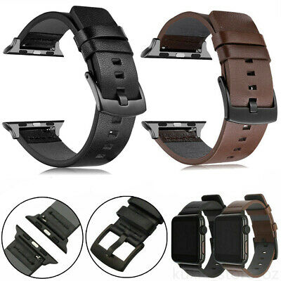 AU12.99 • Buy Genuine Leather Iwatch Band Wrist Strap For Apple Watch Series 5 4 3 2 6 38-44mm
