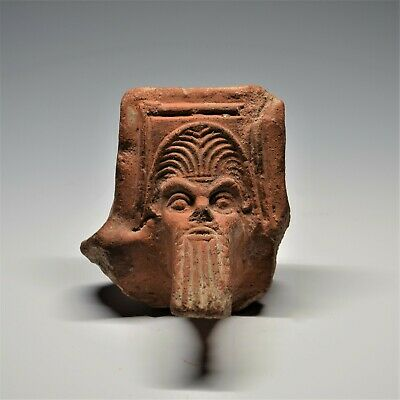 £495 • Buy Large Ancient Greek Terracotta Head Of Silenus: A Fragment From A Brazier. Rare.