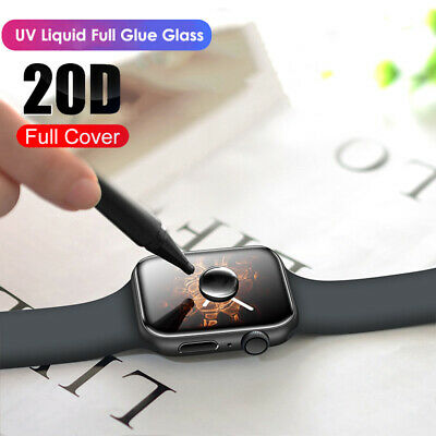 $ CDN4.78 • Buy For Apple Watch 5 4 3 2 1 Full Cover UV Liquid Tempered Glass Screen Protector ~