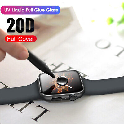 $ CDN2.97 • Buy For Apple Watch 5 4 3 2 1 Full Cover UV Liquid Tempered Glass Screen Protector ~