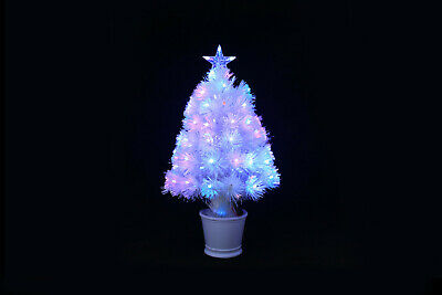 £29.99 • Buy Pink Christmas Tree 2ft Xmas Fibre Optic + LED Decoration Star Indoor Pre Lit