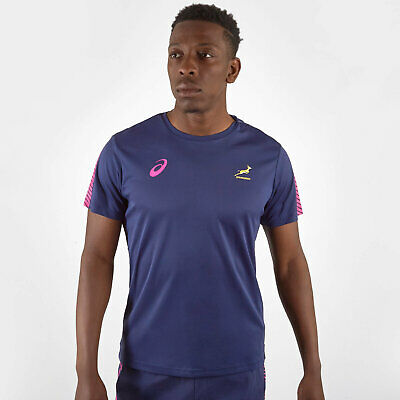 Asics Mens South Africa Springboks 2019/20 Players Rugby Training T-Shirt Tee To • 35£
