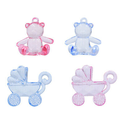 £3.23 • Buy 12Pack Acrylic Faceted Teddy Bear Pram Charms Beads Pendants For DIY Craft