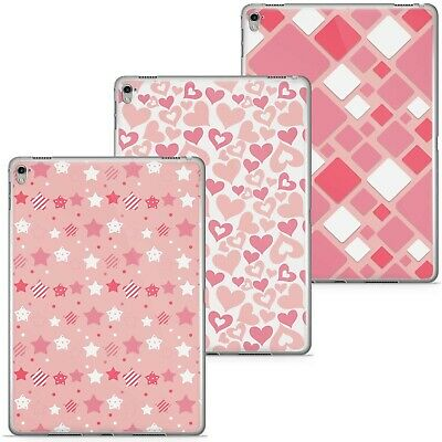 £9.99 • Buy Azzumo Baby Pink Stars Hearts Squares Circles Thin Case Cover For The Apple IPad