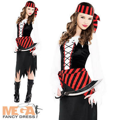 Buccaneer Beauty Girls Fancy Dress Caribbean Shipmate Pirate Childrens Costume • 12.99£