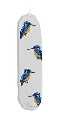 £4.49 • Buy East2eden Countryside Kitchen Kingfisher 100% Cotton Plastic Carrier Bag Tidy